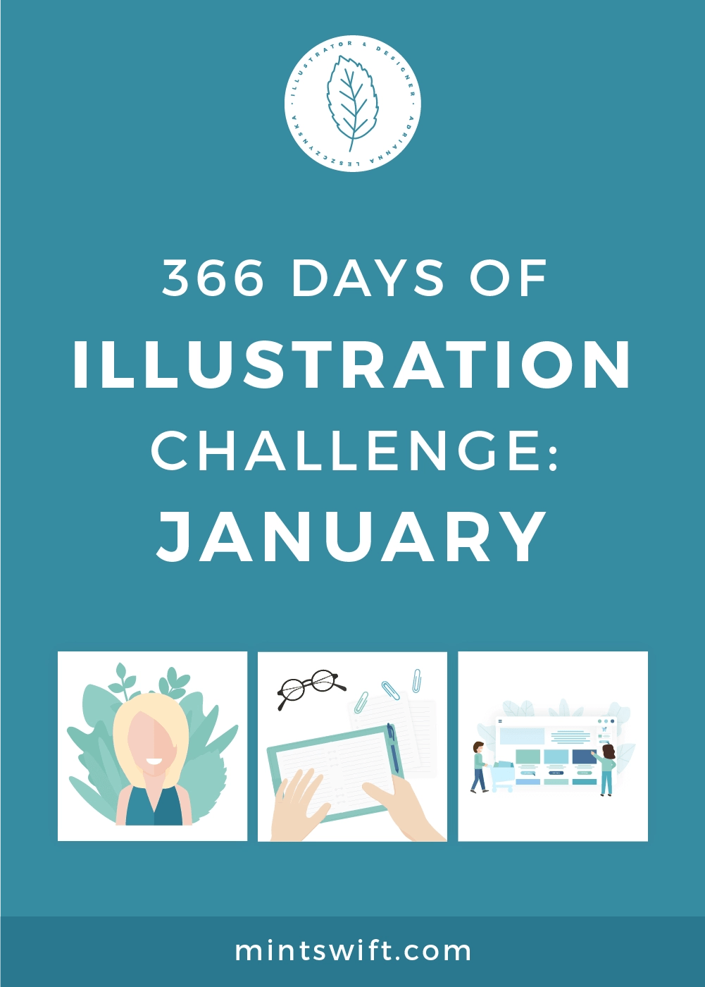366 Days of Illustration Challenge - January by MintSwift. The first month of illustration challenge, so day 1-31. Vector illustrations in flat design style