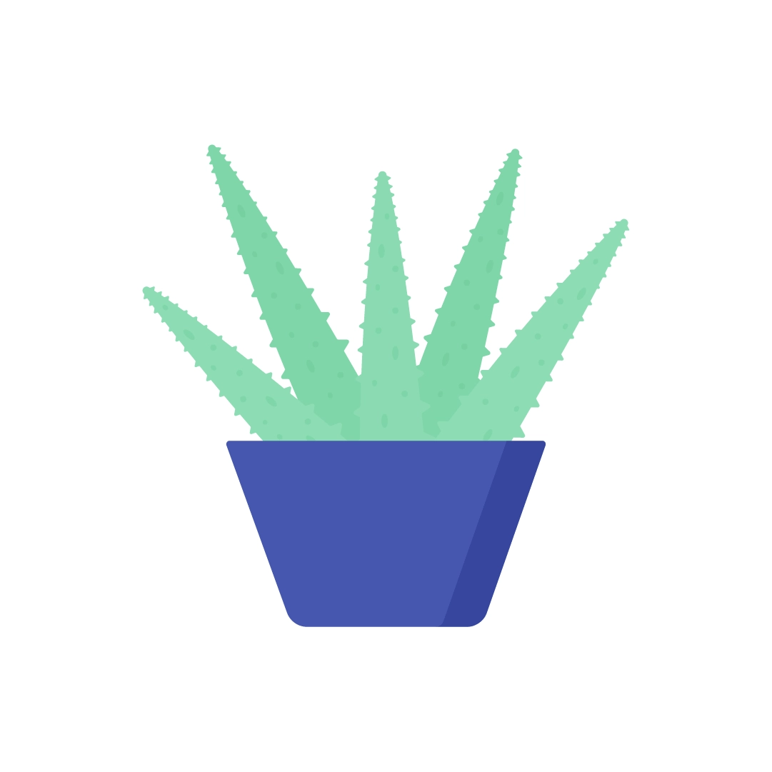 Vector illustration of Aloe Arborescens - Candelabra Aloe Plant in flat design style