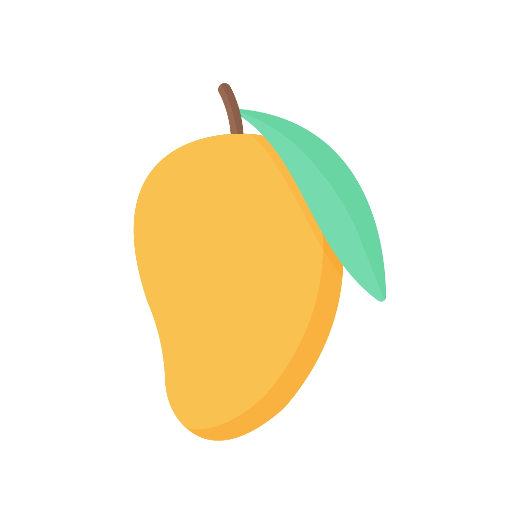 Vector illustration of a mango in flat design style
