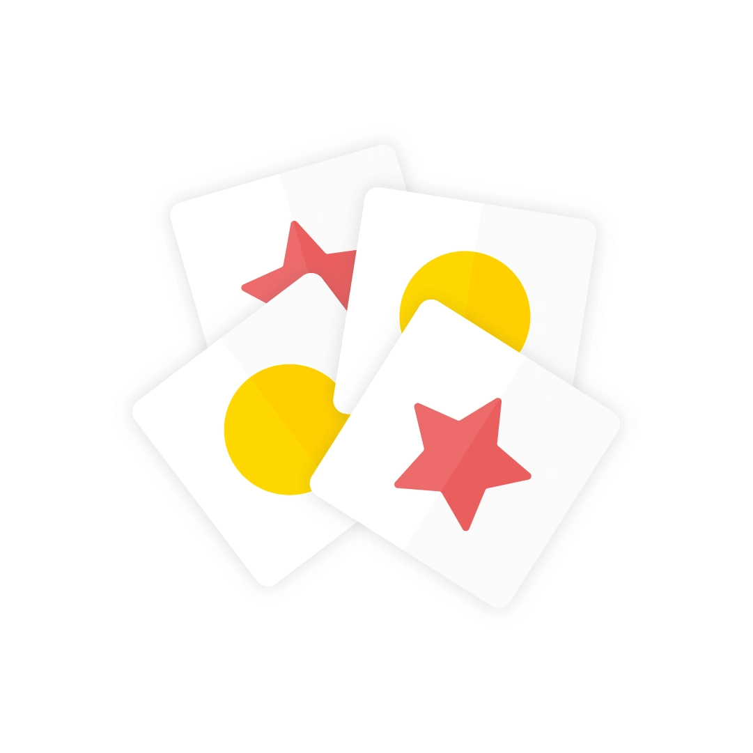 Vector illustration of a memory - card game in flat design style