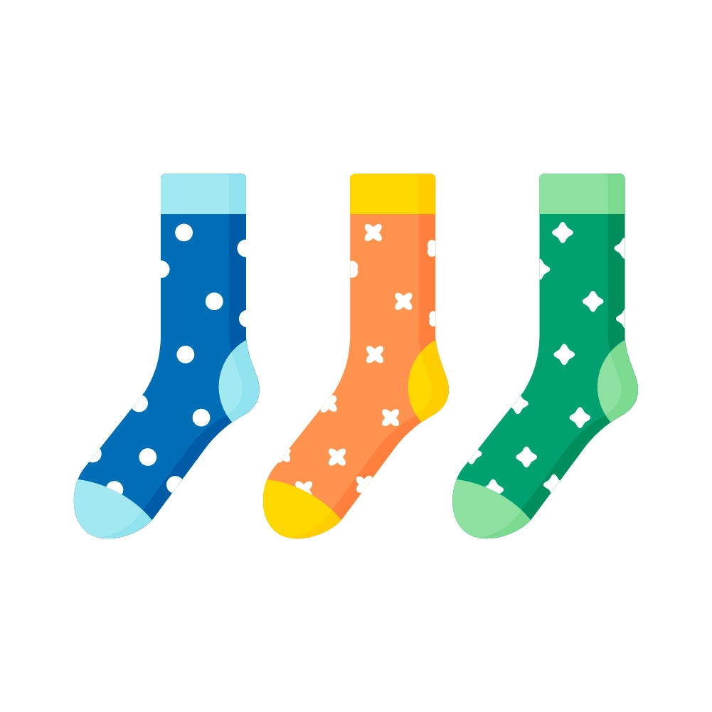 Flat illustration of Christmas Socks