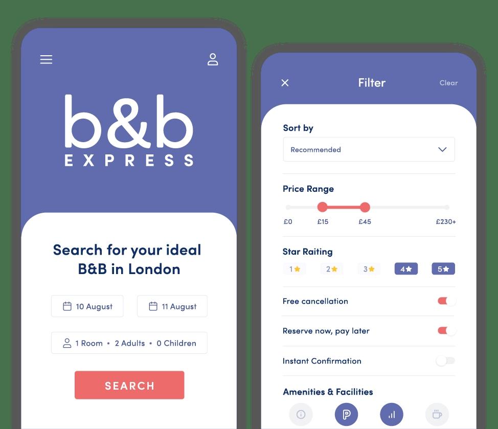 B&B Express - UI UX Design - MintSwift