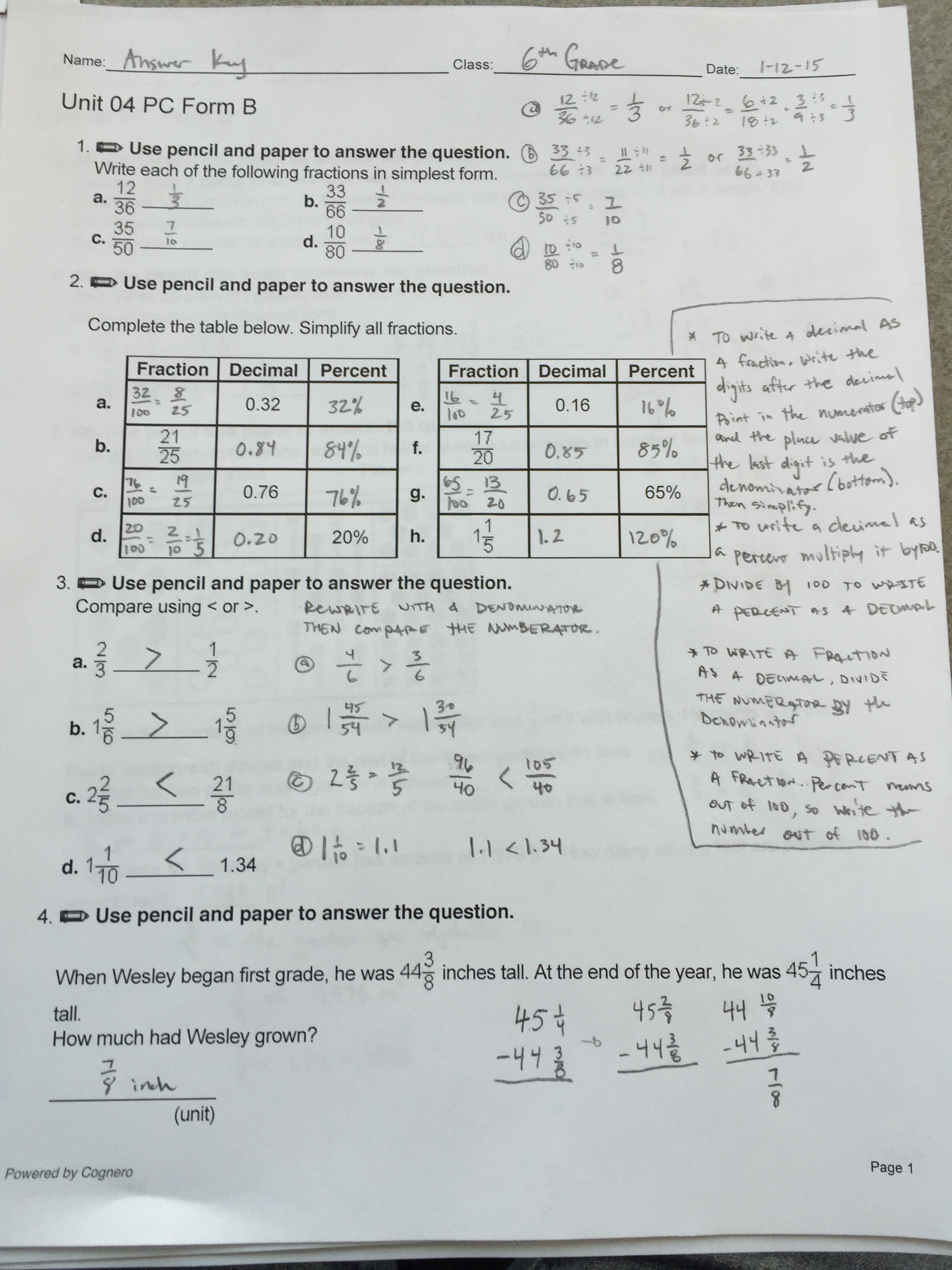 Mathematics Grade 4 Answers