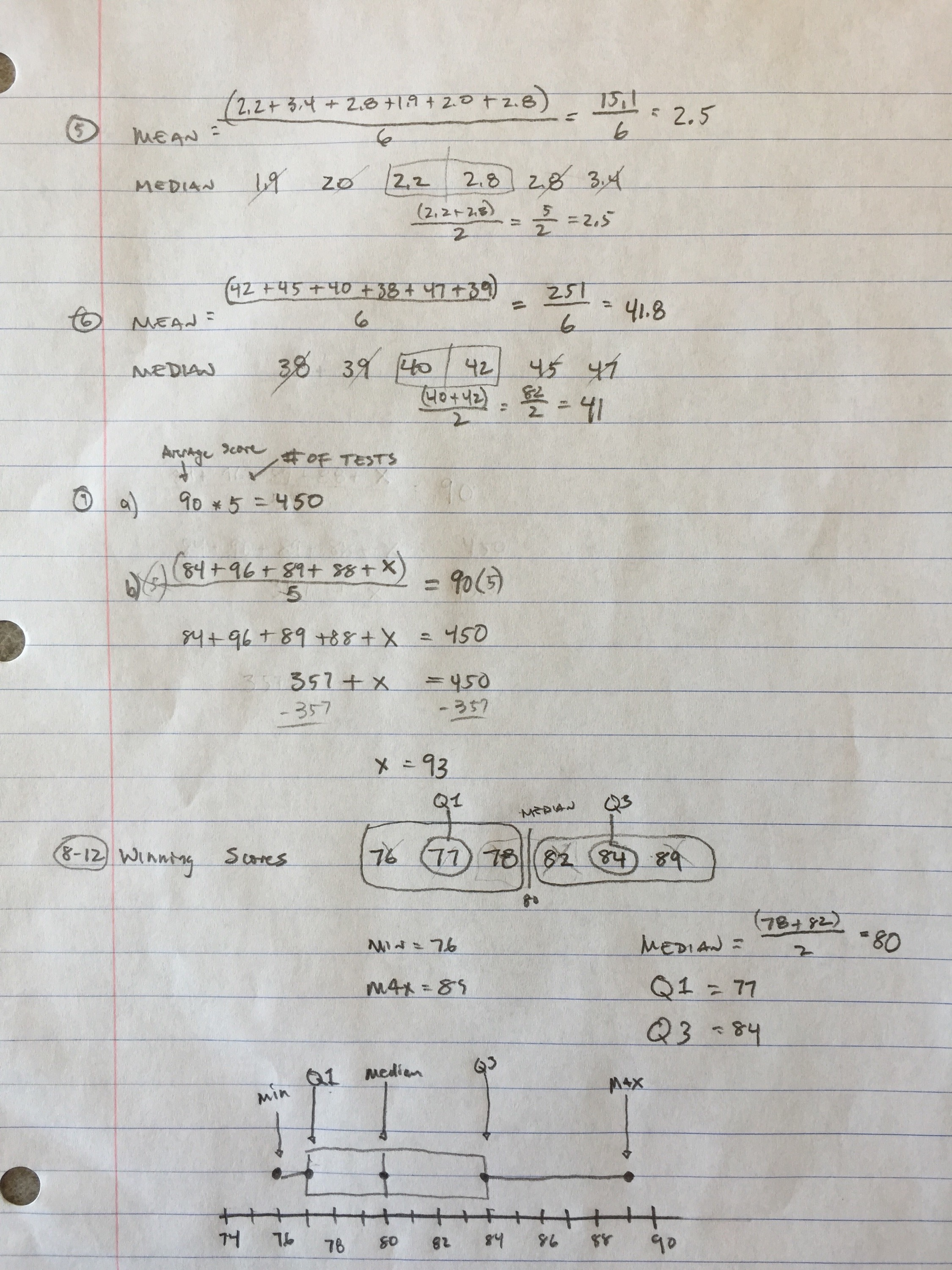 7th Grade Mid Chapter 4 Review Sheet Answers