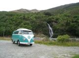 Minty at the waterfall