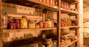 photography canned jars basement house different shapes wooden shelves various food autumn harvest time stocks 201528450