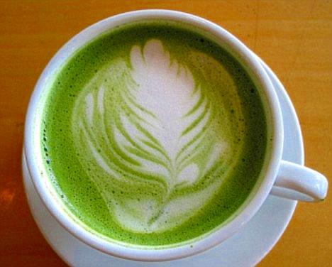 ceasca de cafea verde