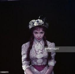Françoise Arnoul sur le tournage de French Cancan.