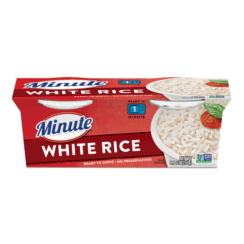 long grain white rice ready to serve