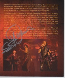 Encarte Holy Diver Live - Scott Warren