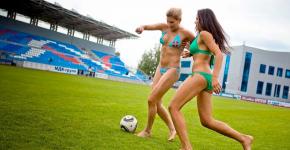 Fotbal feminin in bikini