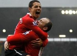 Rooney Chicarito MU-vs-chelsea