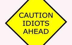 Thumb Caution Idiots Ahead