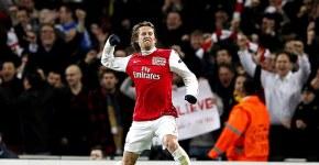 Rosicky in Arsenal FC vs AC Milan
