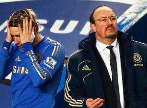 Chelsea's interim manager Rafa Benitez