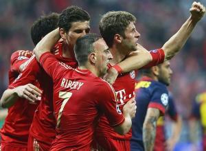 Muller Ribery Gomez Bayern v Barcelona