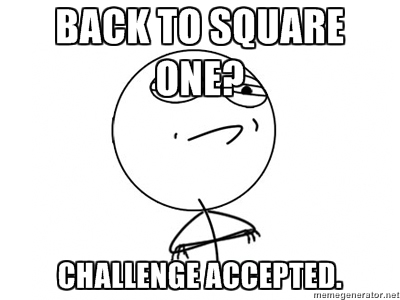 back to square one