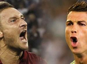 Francesco Totti Cristiano Ronaldo AS Roma vs Real Madrid