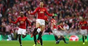 English Premier League Cup Final Zlatan Ibrahimovic.