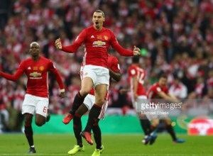 English Premier League Cup Final Zlatan Ibrahimovic.