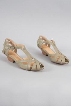 Kitten Heel Sandals in Olive