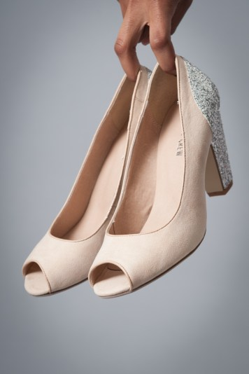 Our favorite new heels from Chelsea Crew: Gilda Glitter in Nude