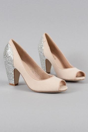 Gilda Glitter Heels in Nude