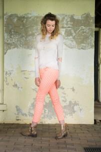 DV Haya Dot Jeans in Orange