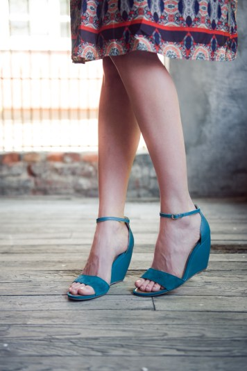 Thyme Suede Wedges