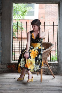 Perennial Party Dress in Marigold