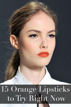 1. Best Orange Lipsticks