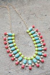 New Neon Statement Necklace