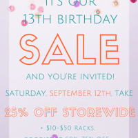 You're Invited to Our Birthday Sale!