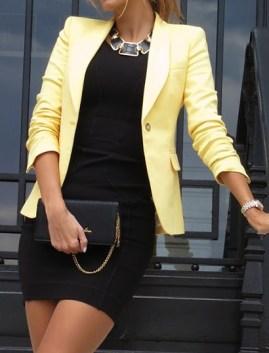 1. Lemon Blazer n Shift dress