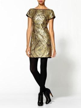 10. Gold Shift Dress