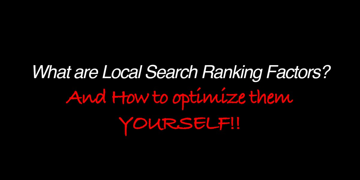 how to optimize local search ranking factors
