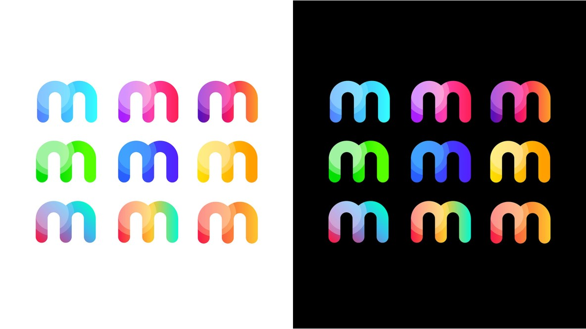 m logo variations for color choosing