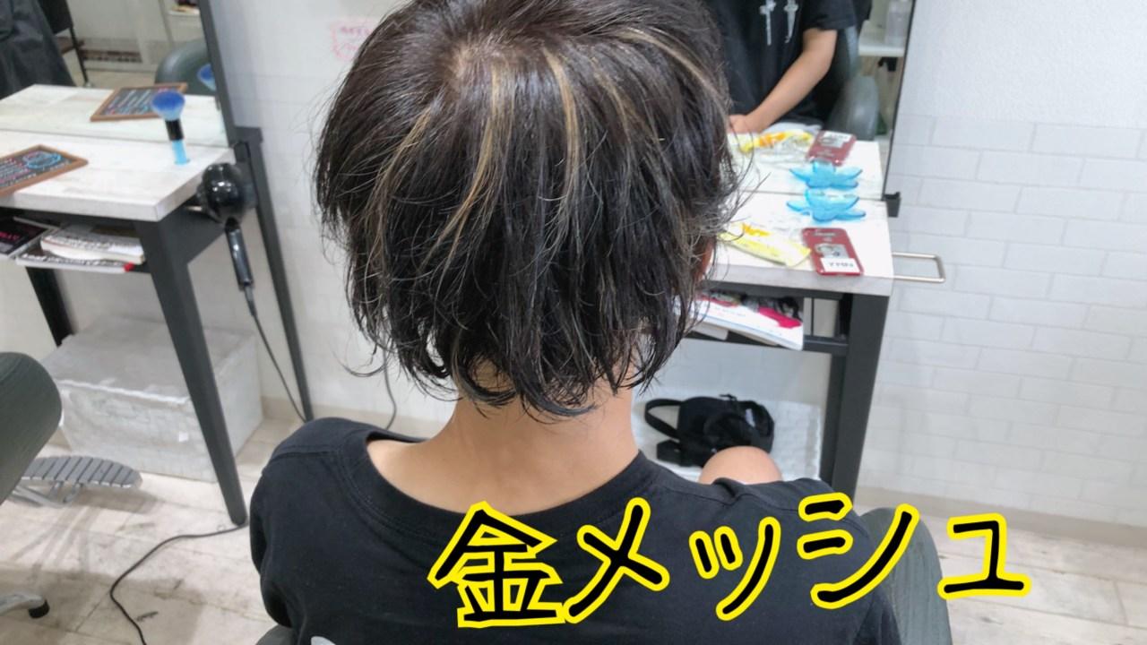 髪 メッシュ