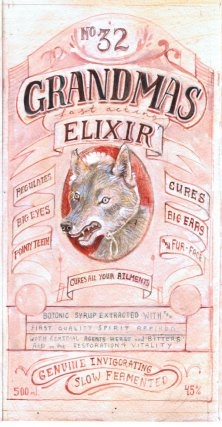 Grangma's Elixir Fable Label