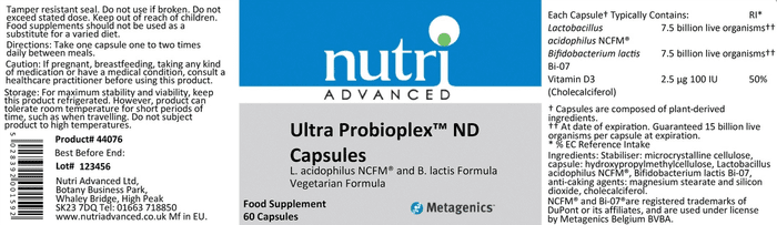 Ultra Probioplex ingredients