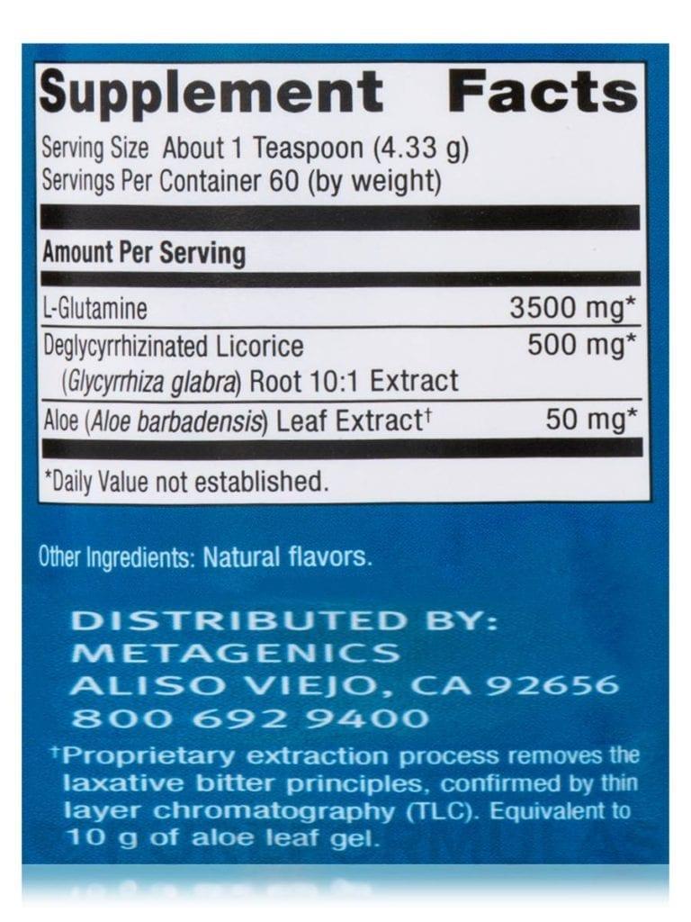 Metagenics Glutagenics ingredients