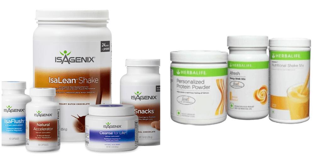 isagenix vs herbalife reviews