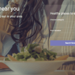 How do you easily find healthy places to eat?