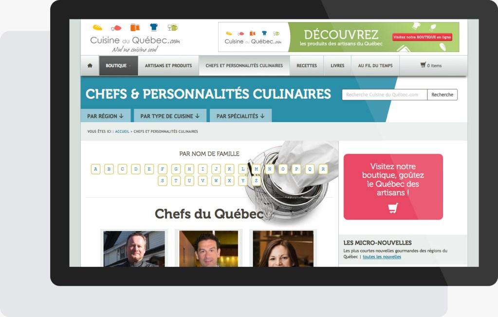 Portfolio Mioudesign - Cuisine du Québec