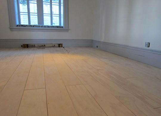 La finition du plancher