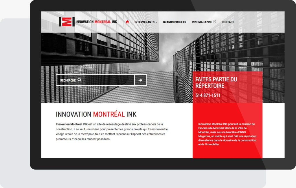 Portfolio Mioudesign - Innovation Montréal Ink