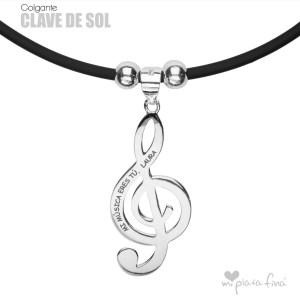 Top 10 colgantes de plata más vendidos - Colgante Clave de Sol