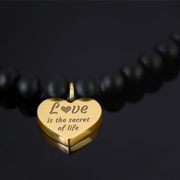 pulsera perlas negras | pulsera personalizable perlas negras
