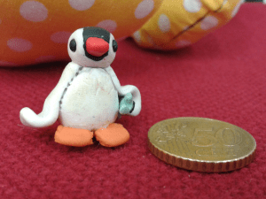 pinga the polymer clay penguin 50 euro cents