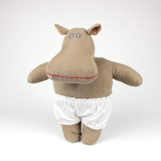 Our beige 'basic' Mippo hippo soft dolls in adorable white undies!
